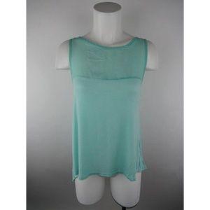 Teal tank top blouse